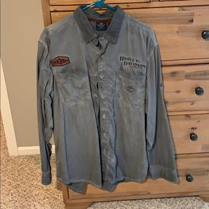 Men's XL Harley Davidson button up